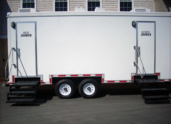 portable showers rentals trailers shower trailer hot camps water mobile indianapolis